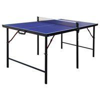 Hathaway Crossover Portable Table Tennis Table, 60-in, Blue