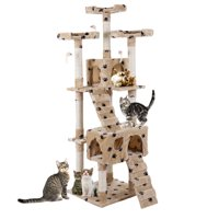 "Jaxpety Pet Kitty Play House New 67"" Cat Tree Tower Condo Furniture Scratching Post"