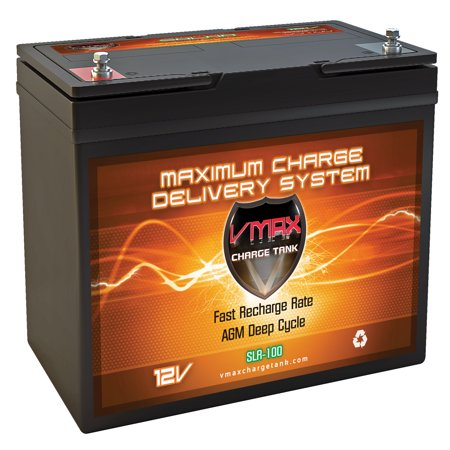 Vmax Slr100 12v 100ah Solar Battery For Camping Rv Panels Walmart Com