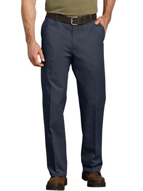 Men's Relaxed Fit Straight Leg Flat Front Flex Pant