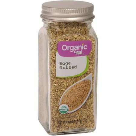 (2 Pack) Great Value Organic Sage Rub, 0.8 oz