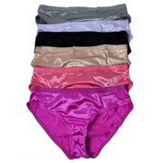 Women Satin Bikini 12 pack of Plain Satin Underwear 86630e095