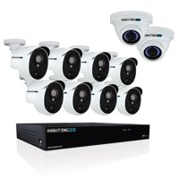 Night Owl 16 Channel 3MP Extreme HD Video Security System with 2 TB HDD and 8 x 3MP Wired Infrared Bullet Cameras & 2 x Audio Enabled 3MP Wired Dome Cameras