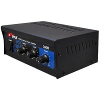 PyleHome PCA2 Stereo Power Amplifier, Black