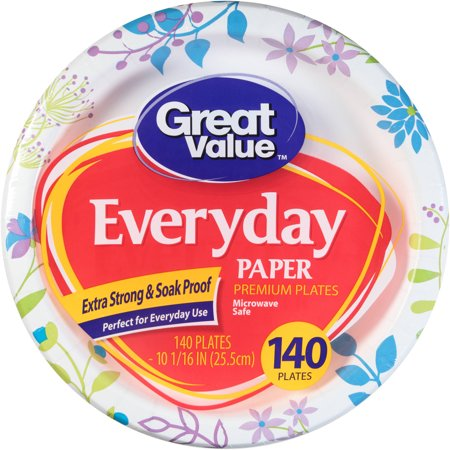 Plate Weldment (Great Value Everyday Paper Dinner Plates, 10 1/16