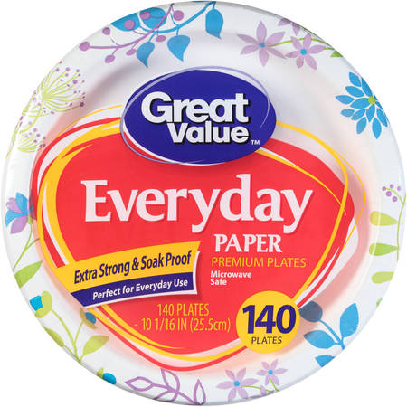 Easy Paper Plate Crafts (Great Value Everyday Paper Dinner Plates, 10 1/16