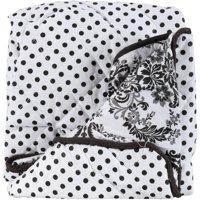 Bacati Classic Damask White/Black Pin Dots Changing Pad Cover