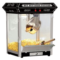 Funtime 4 oz Theater Style Hot Oil Popcorn Maker Machine, Black