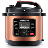 GoWISE USA 6-Quart 12-in-1 Electric Programmable Pressure Cooker (Copper)