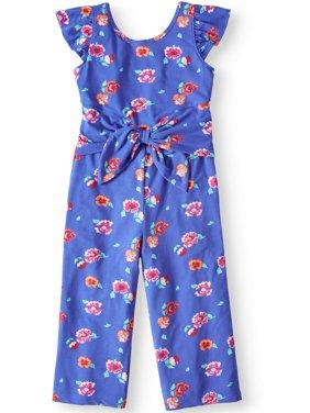 Tie Front Jumpsuit (Little Girls, Big Girls & Big Girls Plus)