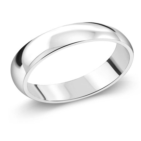 925 Sterling Silver Wedding Band Ring 5mm