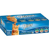 9Lives Paté Favorites Variety Pack Wet Cat Food, 5.5-Ounce Cans, 12-Count