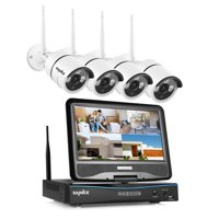 """SANNCE Wireless WIFI 10"""" LCD Monitor DVR 4pcs 720P Home Security Camera System With 1TB Hard Drive Disk"""