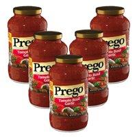 (5 Pack) Prego Tomato Basil Garlic Italian Sauce, 24 oz.