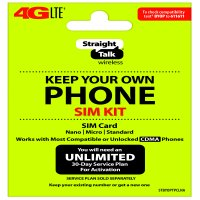 Straight Talk Keep Your Own Phone Activation Kit (4G LTE) - Verizon Compatible