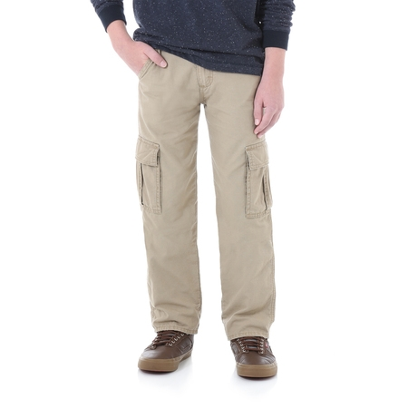 Boys' Lined Cargo Pant - Lined Oxford Uniform