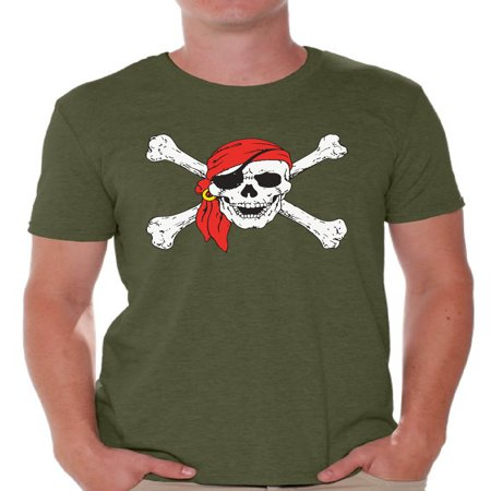 Awkward Styles Jolly Roger t-shirt top skull shirts mens skull shirts day of the dead t shirt costume dia de Los Muertos costume t shirt candy skull sugar skull costume t shirt skull for men Mexico](Day Of The Dead Candy)