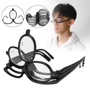 9d79f0637c65 Folding Women Makeup Magnifying Reading Flip Make-up Eye Glasses Eyeglasses  Care