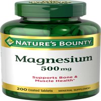 Nature's Bounty Magnesium Tablets, 500mg, 200 Ct