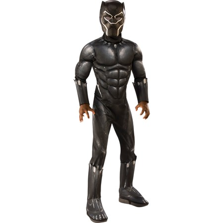 Marvel Black Panther Child Deluxe Boys Halloween Costume (Male Halloween Rave Costumes)