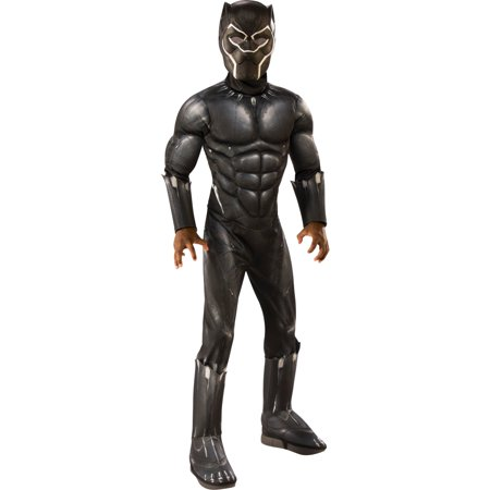 Marvel Black Panther Child Deluxe Boys Halloween Costume - Makeup For Cat Halloween Costume