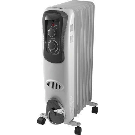Mainstays Oil Filled Electric Radiant Space Heater White