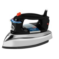 BLACK+DECKER Classic Iron with Aluminum Soleplate, Black/Stainless Steel, F67E-T