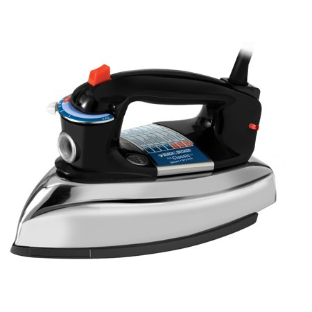 BLACK+DECKER Classic Iron with Aluminum Soleplate, Black/Stainless Steel, (Best Iron With Titanium Anti)