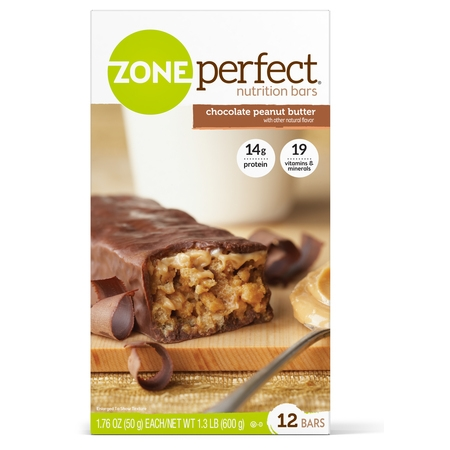 Body Shake Chocolate Peanut Butter - ZonePerfect Nutrition Snack Bar, Chocolate Peanut Butter, 14g Protein, 12 Ct