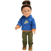 "My Life As 18"" Poseable Outdoorsy Boy Doll, Brunette Hair"
