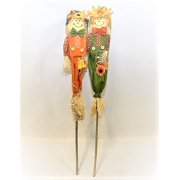 Outdoor Yard Set of 2 Scarecrow Stakes