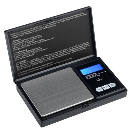 Insten High Precision .01 gram Digital Scale 100 x 0.01 g for Jewelry Gold Silver Coin Weighting (Compact Size)(Stainless Steel Salver)(Backlit Display)(Support 6 modes : g / oz / ozt / dwt / ct /