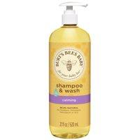 Burt's Bees Baby Shampoo & Wash, Calming Tear Free Baby Soap - 21 oz Bottle