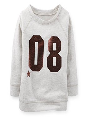 Little Girls' French Terry Varsity Top - Grey