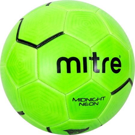 Mitre Midnight Neon Green Performance Soccer Ball, Size 3 - Soccer Ball Glow In The Dark