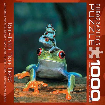 EuroGraphics Frogs 1000-Piece Puzzle, Small (Frog Puzzle Box)