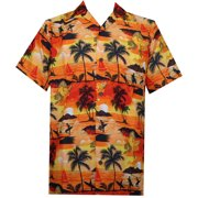 8ab5e7afb33c Hawaiian Shirt 43 Mens Allover Scenic Party Aloha Holiday Beach Orange 4XL