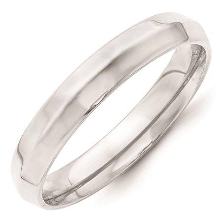 Knife Edge Wedding Ring (14k White Gold 4mm Knife Edge Comfort Fit Wedding Band Ring Size 11.5)