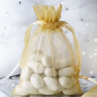 "Efavormart 10PCS Organza Gift Bag Drawstring Pouch for Wedding Party Favor Jewelry Candy Sheer Organza Bags - 4""x6"""