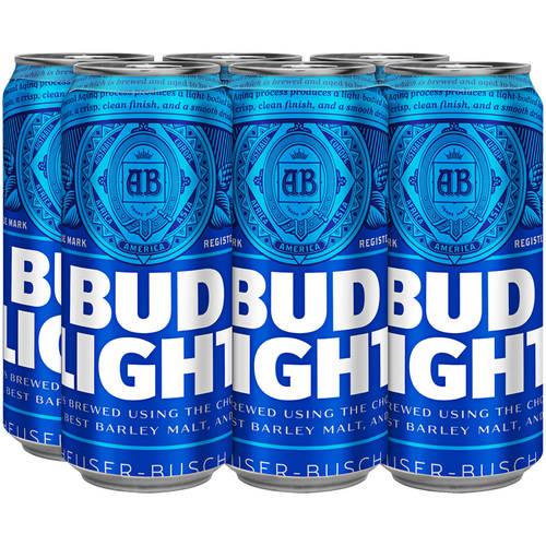 Bud Light Beer, 6 pack, 16 fl oz
