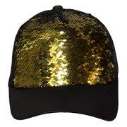 6d4297df0f7 Color Changing Sequin Snap Back Adjustable Baseball Hat Cap