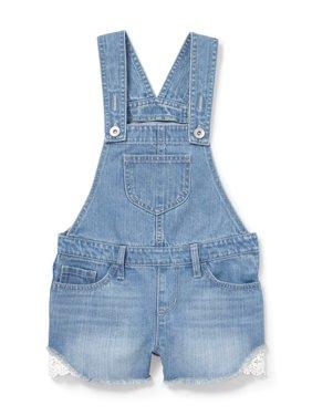 Lace Trim Overall Short (Little Girls & Big Girls)