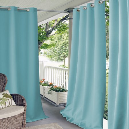 Turquoise Room Ideas (Elrene Home Fashions Connor Solid Room Darkening Grommet Single Curtain)