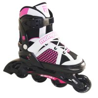 Mongoose MG-087G-L Girls' Size Large Comfortable Inline Rollerblade Skates, Pink