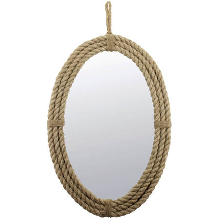 Rope Oval Mirror with Loop Hanger