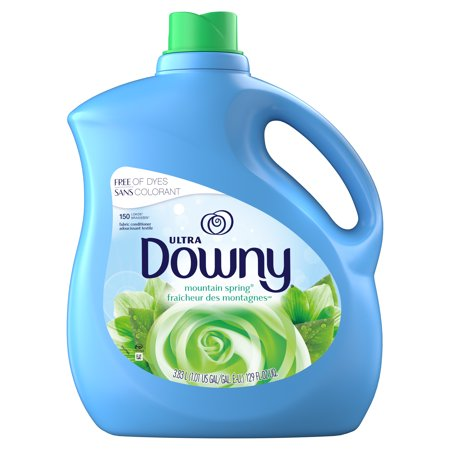 Downy Mountain Spring Liquid Fabric Conditioner (Fabric Softener), 150 Loads 129 fl oz Downy Fabric Softener Ball