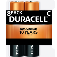 Duracell 1.5V Coppertop Alkaline C Batteries 8 Pack