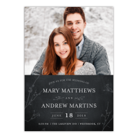 Personalized Wedding Invitation - Rustic Woodgrain - 5 x 7 Flat