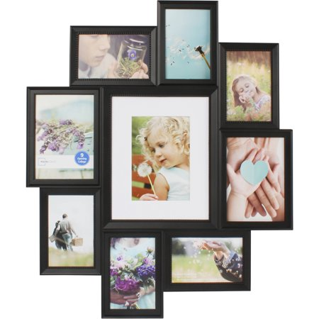 Mainstays 9 Opening Collage Frame Black Walmartcom