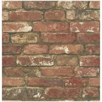 NuWallpaper West End Brick Peel & Stick Wallpaper